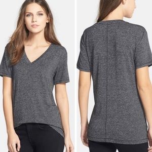 Rag & Bone V-Neck Tee Top Charcial Grey Size Small